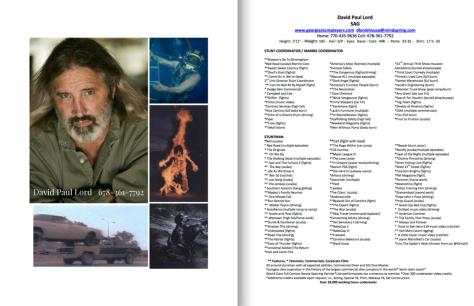 David Paul Lord headshot and resume