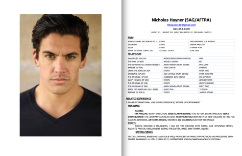 Nicholas Hayner headshot and resume